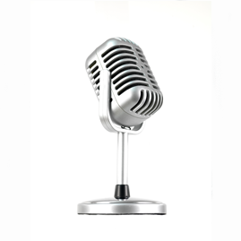 Picture of a studio microphone